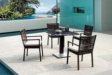 Cassie hot sale Pation/Garden furniture wicker/ Rattan Restaurant Dining Furniture