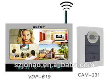 ACTOP long distance adopt 2.4GHz digital technology door viewer witn 12pcs chords