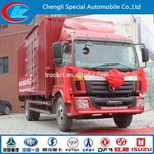 China Supplier 4X2 Foton food box wagon 6 wheels FOTON cargo lorry 11ton foton truck box body