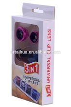 fisheye lens mobile 0.67X Universal Wide Angle Macro Fisheye Mobile Camera Mobile Lens,3 in1 Smartphone Lens