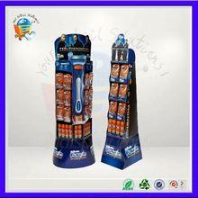 8 pockets advertising floor display ,8 pocket pop cardboard display shelf ,8 cells retail cardboard stand