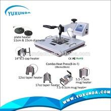 Manual T Shirt Printing Machine Digital Combo Heat Press