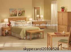 King size bed Bedroom furniture sets/Guest Room Hotel Furniture/Bedroom Wooden Bed