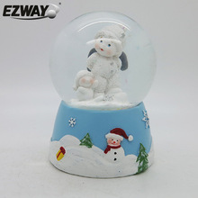kids angel statue polyresin gifts christmas lighted snow globe