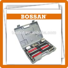 new hot set,high quality,7 Pc Auto Body Fiberglass Fender Repair Tool Hammer Dolly Dent Bender Auto Kit