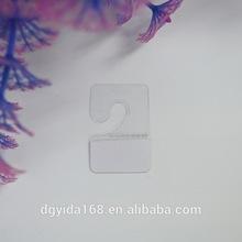 Supermarket Packing Display Plastic Self Adhesive J Hooks Hang Tab