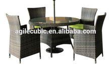 10229 outdoor furniture high back rattan sofa set 6 seats