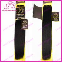 10 - 22 Inches 100 Human Hair Yaki Straight Weave Dark Brown Hair Bundles