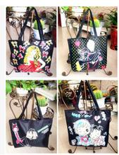 Hot seeling fashion cute baby print canvas bag China wholesale great handbags