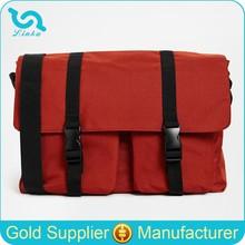 High Quality Lightweight Red Polyester Long Strap Messenger Bag For Men