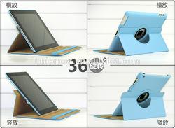 2015 Hot Sale Turned 360 Degrees lichee Pattern Pu Leather Case For Ipad,For Ipad Mini Minion Case