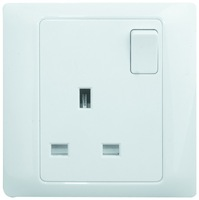white colour SASO /CE certificate BS standard 13A UK switched socket