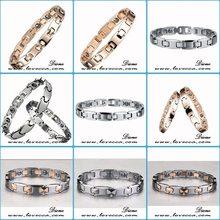 latest friendship bracelet black ceramic and tungsten bracelet