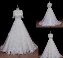 Fancy sheer Back ball gown wedding dress 2012