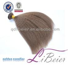 grey human hair extension virgin remy peruvian hair in china kinky straight virgin gray remy hair