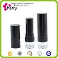 Vacío negro lápiz de labios cosméticos contenedor transparente con soporte/biodegradables envases de productos cosméticos