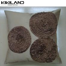 2015 hot selling 3D design decorative cushion covers/ fancy flower pillow case