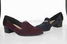 2015 latest fashion chunky heel casual shoes