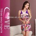 2015 nuevo diseño del vestido ocasional belleza patrón de flores de verano mujeres del vestido del desgaste