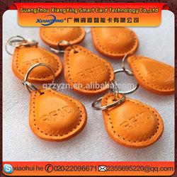 IC+ID Leather embossed RFID Keyfob