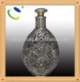 bouteille de vin HSB020 en verre avec forme irrégulière, bouteilles en verre décoratif avec des bouchons