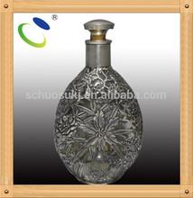 Item HSB020 odd-shaped glass wine bottle,decorative glass bottles with stoppers