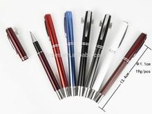 polish black anodized aluminum pen with logo