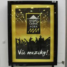 OEM SGS advertising aluminum frame poster board by LED lightening