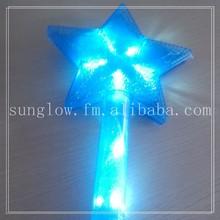 3 models led colorful blue plastic star flash stick