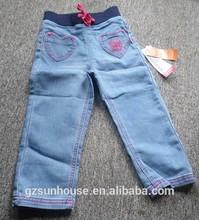 estate demin jeans con tasche per le ragazze