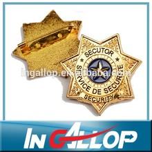 star shape fashion design nice making custom logo badge