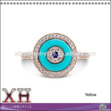 925 Sterling Silver Evil Eye Rings Sapphire and Diamond Blue Eye Ring