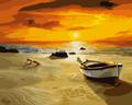 chino de alta calidad hechos a mano al por mayor sunset beach de bricolaje pintura al óleo