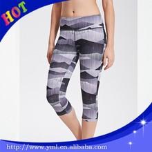 Polyester fiber elastan yoga shorts pants