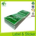 Etiquetas adhesivas para botellas de plástico adhesivo de la etiqueta