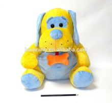 big size plumber dressed dog stuffed toys