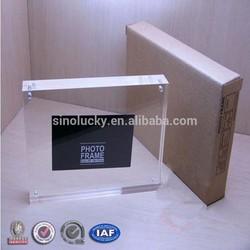 "Promotional acrylic photo frame magnetic, 4x6"" photo frame, 5x7"" photo frame"