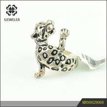 Fashion Leopard Animal Antique Silver Rings Jewellery