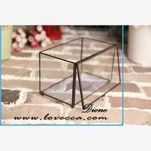 copper frame plant holder round glassware