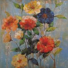 Handmade Impressionist little Texture flower oil painting