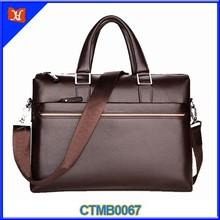 Personalizado de alta qualidade elegante homem de negócios pasta de couro da carteira