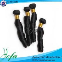 Wholesale cheap virgin spring curl brazilian italian weave human hair extension