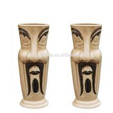 creative new hot sale items ceramic Tiki mug for bar cocktail