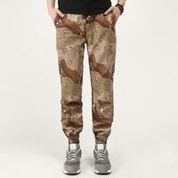 Men Wholesale Fashion Custom Cotton Drop Crotch Camo Jogger Pants