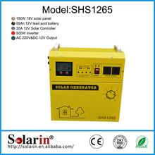 Small home elegant emergency solar kit system