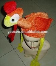 Kids Novelty orange turkey hat with long legs for Christmas