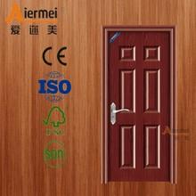 High quality a reasonable price with solid wood infilling pvc coating interior steel door cheap bedroom door