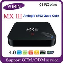 The most popular Amlogic S802 Quad Core Android 4K HD Media player/iptv set top box