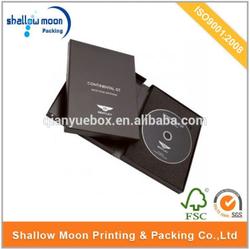 wholesale high quality custom cardboard VCD/DVD/CD packaging box