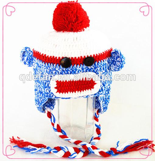 Hot unisex baby boys knit pattern winter hat warm beanie crochet cute cap